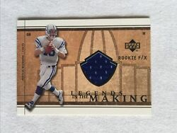 Peyton Manning 2002 Ud Rookie F/x Legends In The Making Jersey Lm-pm