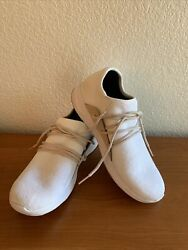 Vessi Cityscape Off White Flash Knit Waterproof Lace Up Sneakers White Beige 8