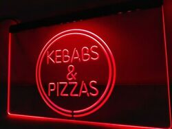 Kebabs And Pizzas Neon Led Light Sign Food Cafe Restaurant Bbq Grill House Open