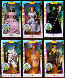 Wicked Witch Barbie Doll Wizard Of Oz Lot 6 Very Good Boxes Dorothy Glinda Lion