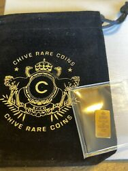 Thechive Rare Letter K Keep Calm Chive On 1/100th Oz Gold Bar. - Park Place