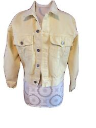 Sostanza Vintage Yellow Jean Jacket Size Small Excellent Condition