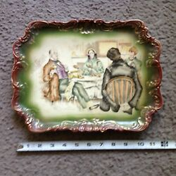 Antique Dickens Wall Plate Mrs Micawber David Copperfield C D Gibson.