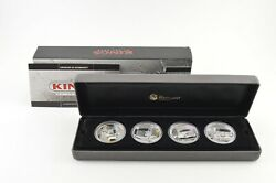 2010 Tuvalu 1 Kings Of The Road 1 T Oz Silver Coin 4 Coin Set - Box And Coa 9438