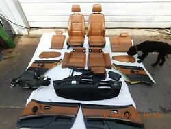 Bmw E92 E93 M3 Seats Door Panels Front/rear Console And Dash Complete Interior