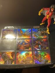 1996 Fleer Ultra X-men Wolverine Lot Of 8 Holoflash Puzzle Insert Cards