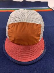Vtg 90s Usa Made Mesh Cycling Cap Size Large Mens Duck Bill Hat Net
