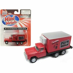 1960 Box Reefer Refrigerated Truck Carling Black Label Beer Red 1/87 Ho S...