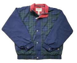 Vintage Gore-tex Tourney Golf Jacket Waterproof Breathable Menand039s Xl Green Plaid