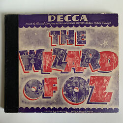 Rare 1939 The Wizard Of Oz Set 4 - 78 Rpm Decca Record Judy Garland Victor Young