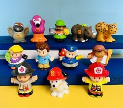 Fisher Price Little People Lot Of Figures Animals Farm Zookeeper Dad Fireman Set