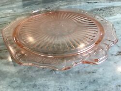 Depression Glass Mayfair Pink By Anchor Hocking Footed Cake Stand Wear Marks