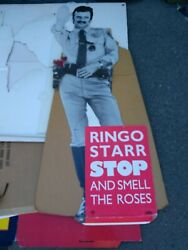 Ringo Starr 1981 Stop And Smell The Roses Promo Standee Vg Rare Creases Vtg Htf