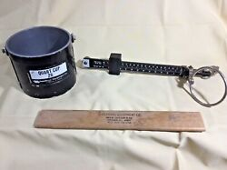 Vintage 26q Seedburo Hand Type Density Tester Beam Assembly And Strike Off Stick