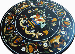 36and039and039 Marble Coffee Dining Table Top Stone Pietra Dura Inlay Antique Home Decor