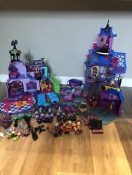 Disney Jr Vampirina Lot - House, Car, Figures, And Accessories . Pre Owned.