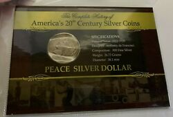 1922 D Us Peace Silver Dollar - The History Of America's Silver Coins 987
