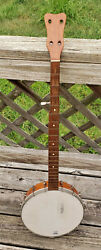 Antique Original American 5 String Banjo - Possible Rosewood Neck And Headstock