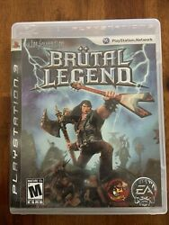 Brutal Legend Sony Playstation 3 2009 Complete With Manual Slightly Used