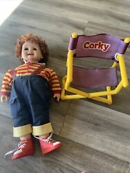 Corky Doll Cricketand039s Bro + Chair Vintage Playmates Brand Tape Player Talking