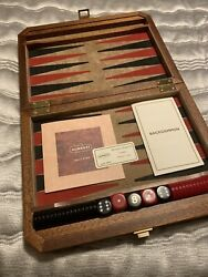 Agresti Backgammon Set - Made From Hand Crafted Briarwood In Florence