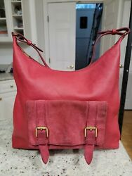 FOSSIL Women#x27;s Large LEATHER SUEDE SHOULDER Bag HOBO Gold Hadware. $28.00
