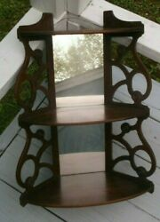 ANTIQUE STYLE VINTAGE WALL SHELF WITH MIRRORED BACK