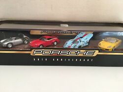 Hot Wheels 50th Anniversary Porsche Collectible Set Of 4 550 930 917 Boxster New