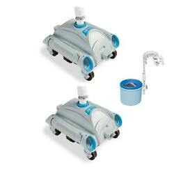 Swimming Pool Cleaner Vacuum Skimmer Automatic Above Ground Sweeper Water 2 Pk