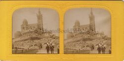 Our-lady Of La Guard Marseille Stereo Diorama Tissue Stereoview Vintage