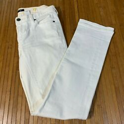 J Crew Jeans Womenand039s 27 Low Rise Stretch White Straight 5 Pocket Clean