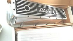 4280 Edelbrock Finned Aluminum Big Block Chev 396-454 Valve Covers 1965 And Later