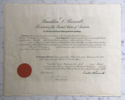 President Franklin Roosevelt Signed Appointment Document Fdr Autograph 1934
