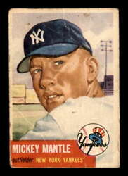 1953 Topps 82 Mickey Mantle F X2180655