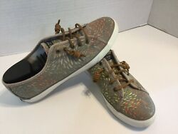 Sperrys Woman's Size 11 Top-side Slip On Canvas Sneakers Excellent