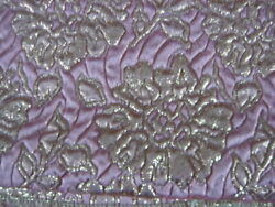 Vintage Floral Gold Thread Pink Background Fabric- 2 1/2 Yards