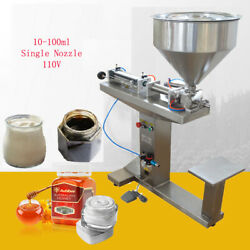 Us Sale 110v Ss Paste Liquid Filling Machine 10-100ml With Stand Single Nozzle