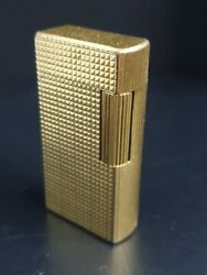 Antique Cigarette Lighter Dunhill 70 Gold Plated Patented D960