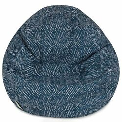 Majestic Home Goods Navajo Classic Bean Bag, Small, Navy