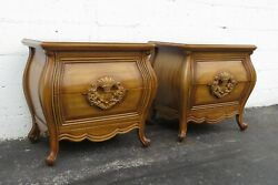 French Bombay Pair Of Nightstands Bedside Tables By Diamond And Cooperberg 2289
