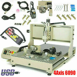 Cnc 6090 Router Engraver Milling Machine | 3d Engraving Cutter Usb 4axis 1500w S