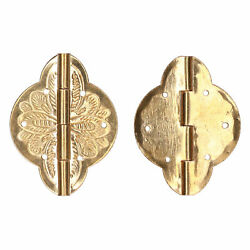 2set Antique Hinge Small Brass Hinge For Drawer Cabinet Wardrobes Foldable Ta By