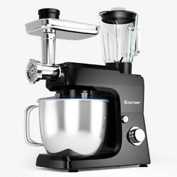 Costway Stand Mixer Meat Grinder 7 Quart Black Stainless Steel Multi Functional