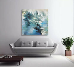 Large contemporary modern abstract original oil painting 36x36 beautiful art