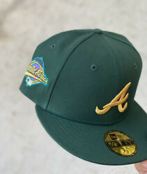 Atlanta Braves Olympic Pack Hat Club Exclusive Size 7 5/8 Fitted Atl Banned