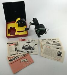 Vintage Garcia Mitchell 300 Spinning Reel 1970s Made In France Case + Xtra Spool