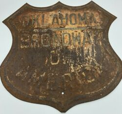 Vintage Oklahoma Broadway Of America Sign Old Historic Sign Collectible Sign