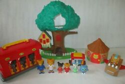 Daniel Tiger Treehouse Playset Trolley Hut And Figures Huge Toy Lot Xmas