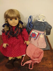 American Girl Kirsten Doll Pleasant Company Pre-mattel W School And Meet Outfits