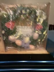 """Vintage 2006 Avon Signs Of Spring Lighted 10"""" Wreath"""
